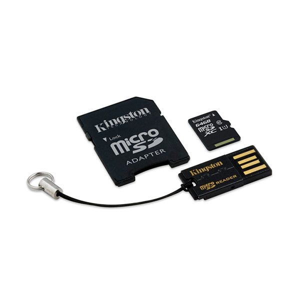 MicroSD MobilityKit 64GB Class10+SDadapter+USBcita MBLY10G2/64GB