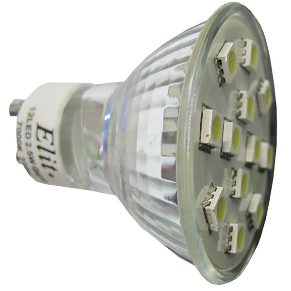 LED sijalica Elit GU10 12LED 2.5W 230V 2700K EL 13201