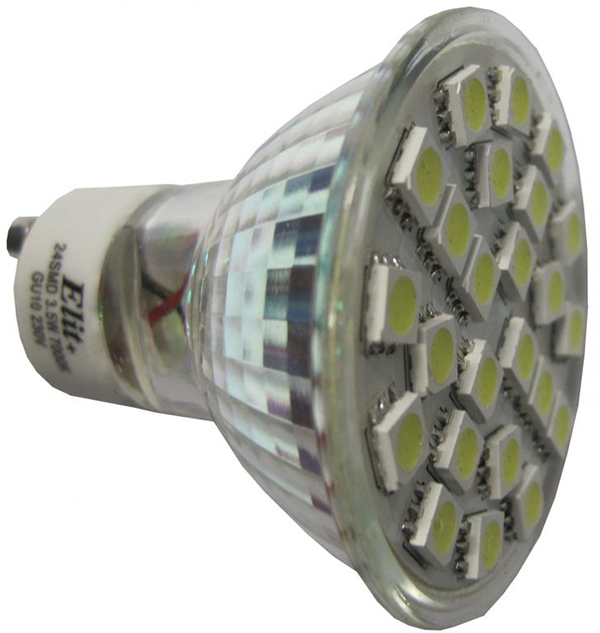 LED sijalica GU10 24LED 3.5W 230V 2700K EL 13211