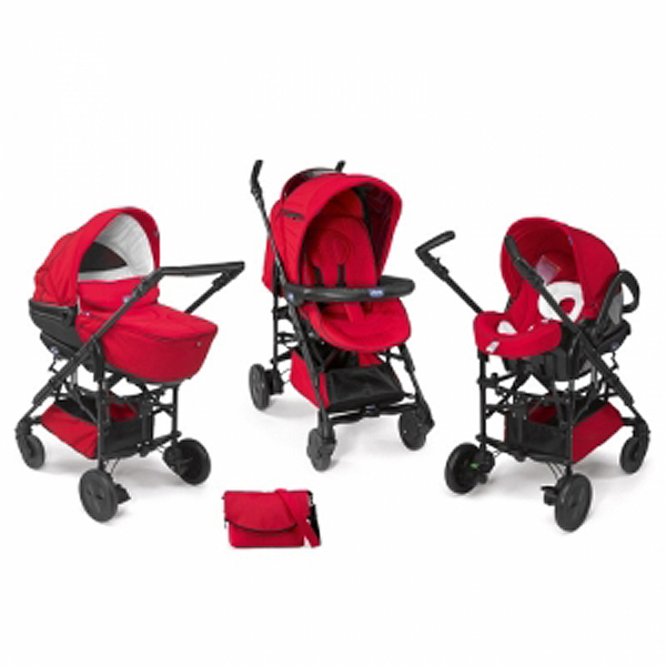Chicco Trio Living smart red-crveni(kolica+auto sedište+nosiljka) 5050061