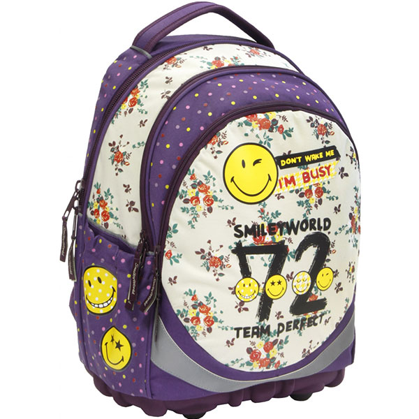 Anatomska torba za školu Smiley ergonomic girl 52542