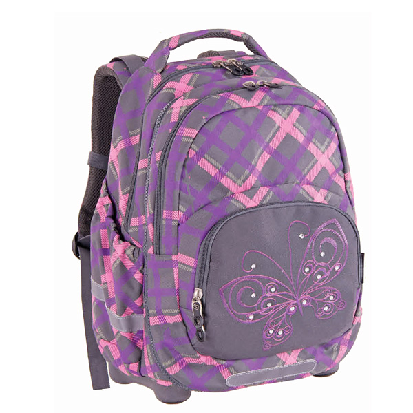 Ranac 2in1 KIDS PLAID BUTTERFLY 120643