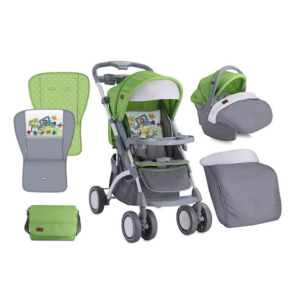 Kolica Appolo Set Lorelli S-500 Green & Grey Car 10020911714