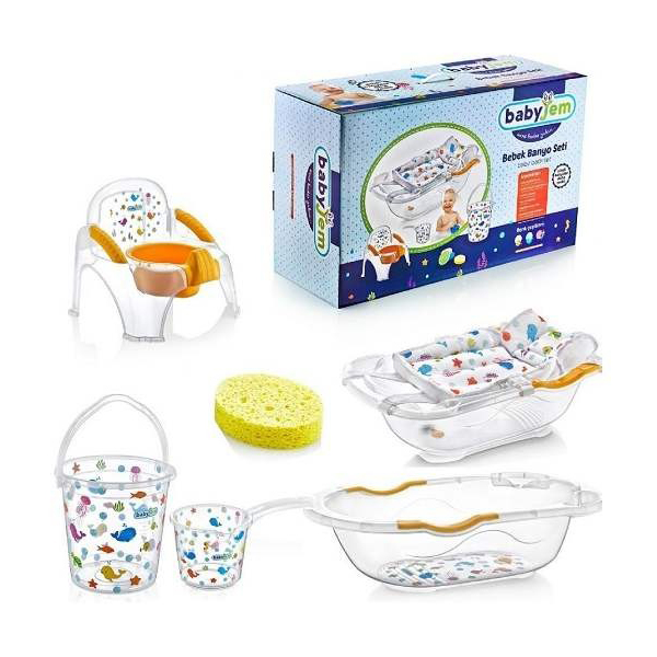 Set za kupanje White transparent ocean BabyJem 92-24026