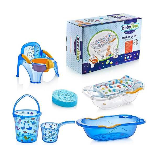 Set za kupanje Blue transparent cean BabyJem 92-14027