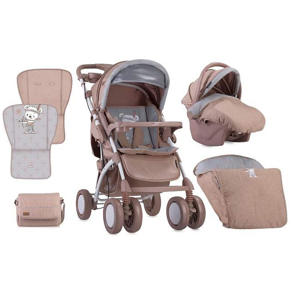Kolica za bebe Toledo Set Beige Indian Bear Lorelli 10021191826