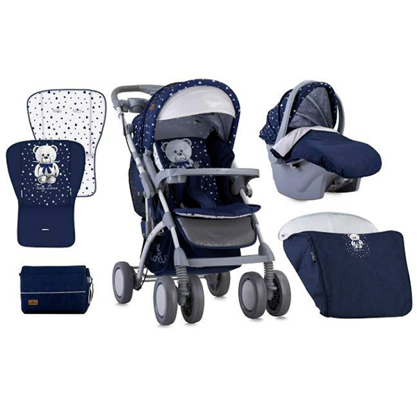 Kolica za bebe Toledo Set Dark Blue Teddy Bear Lorelli 10021191832