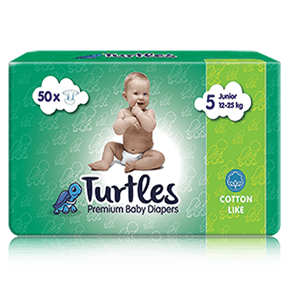 Pelene za bebe Turtles Baby JUNIOR 5