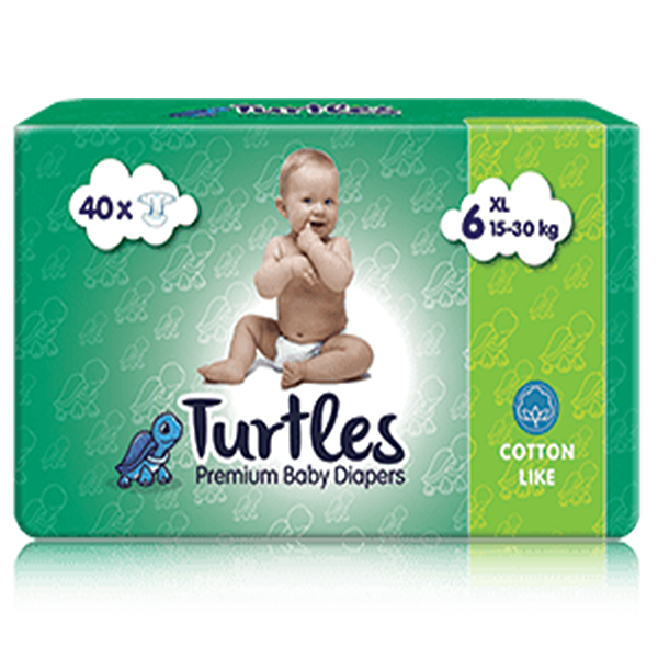 Pelene za bebe Turtles Baby XL 6