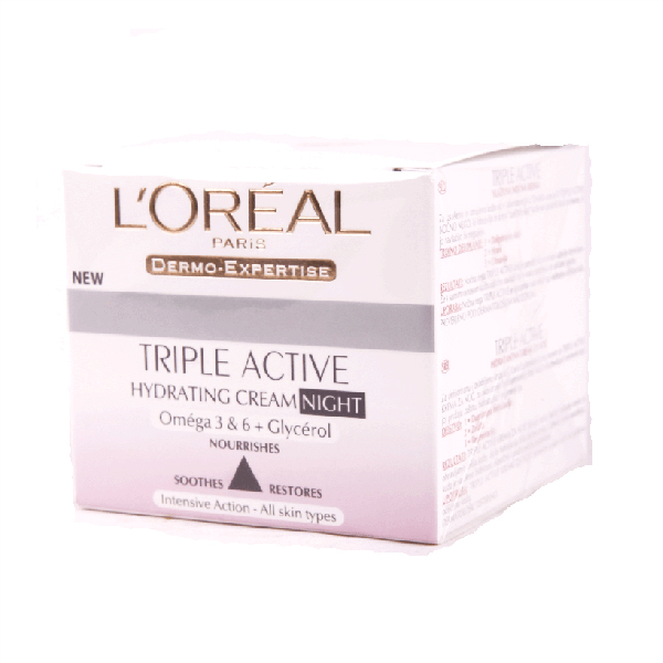 Noćna krema Dermo Triple Active Night A4533600 LOREAL