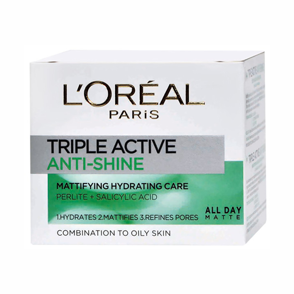 Krema za lice Dermo Triple Active Anti Shine A6968900 LOREAL