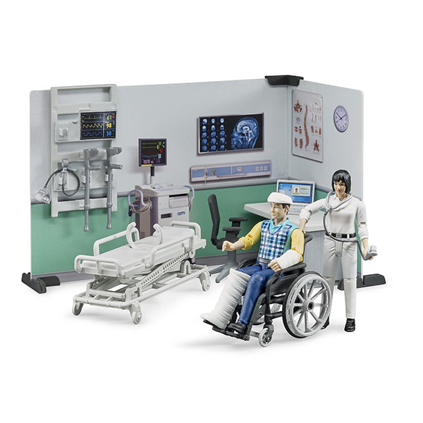 Set ambulantna ordinacija sa figurama i opremom Bruder 627119