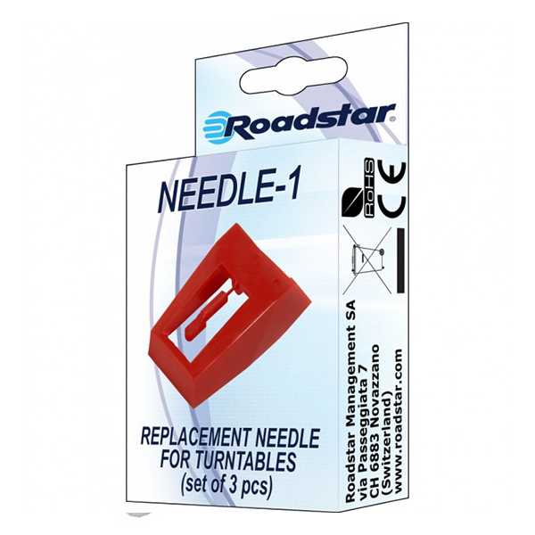 Igle za gramofon 3kom Needle-1 Roadstar NEEDLEPCS